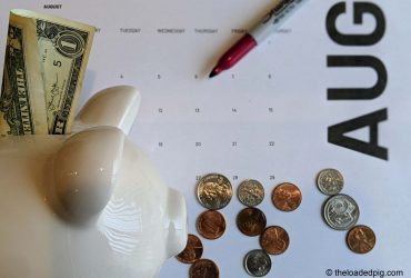 Piggy Bank | Savings | Calendar | 7 Rules For Our No Spend Month Challenge | The Loaded Pig